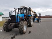 Услуги по трелевке древесины,  трактором с лесовозной тележкой
