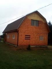 Дом/Баня сруб из бруса с установкой в Борисовском районе