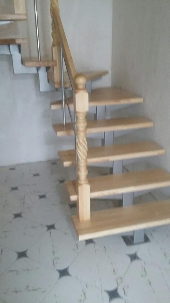Лестницы (дерево,  металл). Отделка бетонных лестниц деревом 8