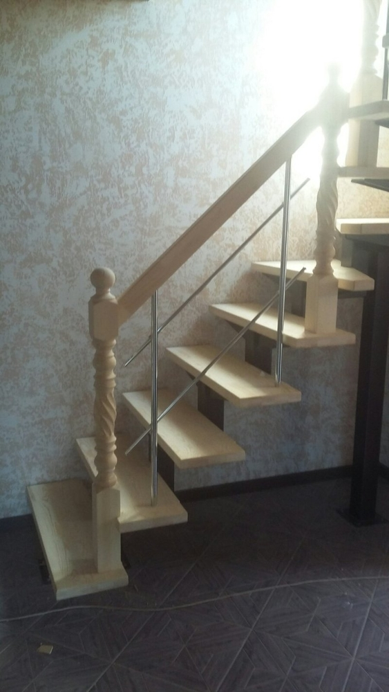 Лестницы (дерево,  металл). Отделка бетонных лестниц деревом 9