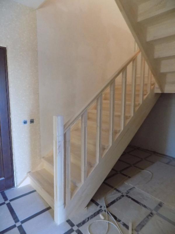 Лестницы (дерево,  металл). Отделка бетонных лестниц деревом 7