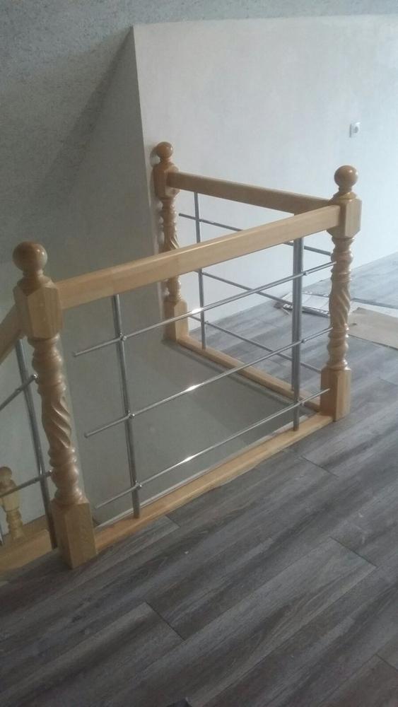 Лестницы (дерево,  металл). Отделка бетонных лестниц деревом 6