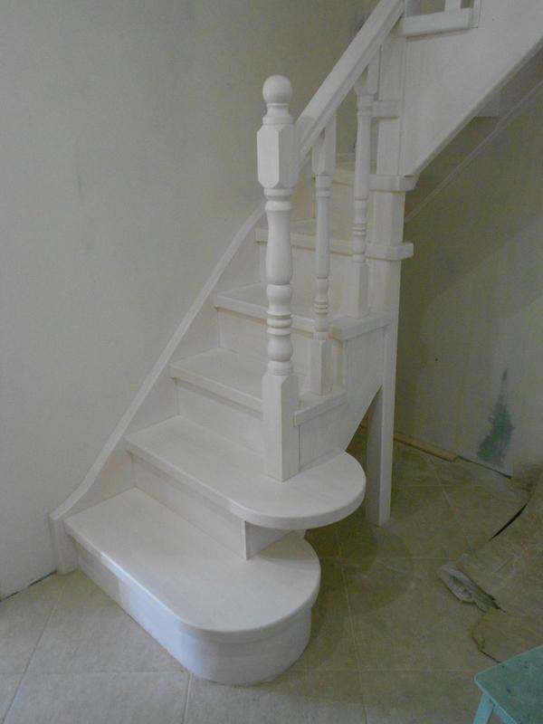 Лестницы (дерево,  металл). Отделка бетонных лестниц деревом 4