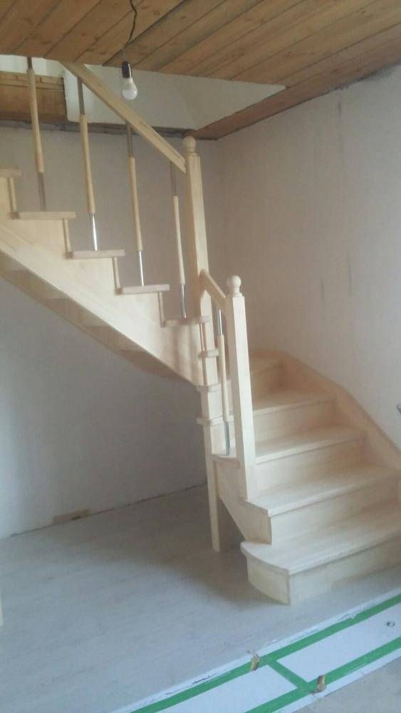 Лестницы (дерево,  металл). Отделка бетонных лестниц деревом 3