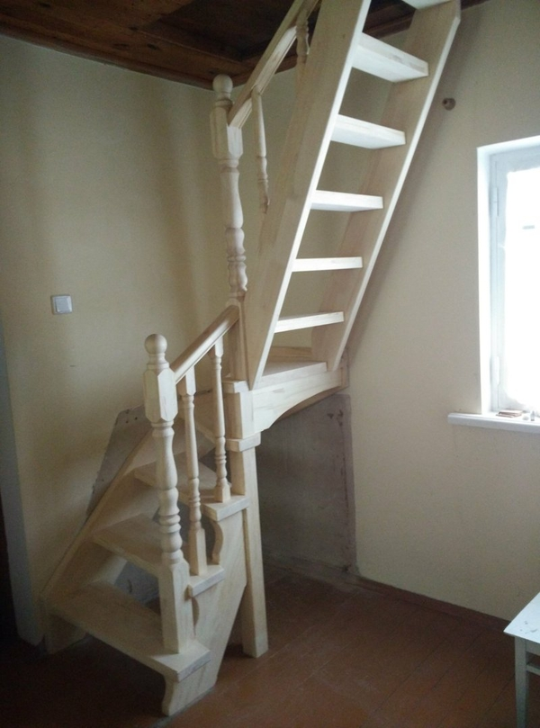 Лестницы (дерево,  металл). Отделка бетонных лестниц деревом 2
